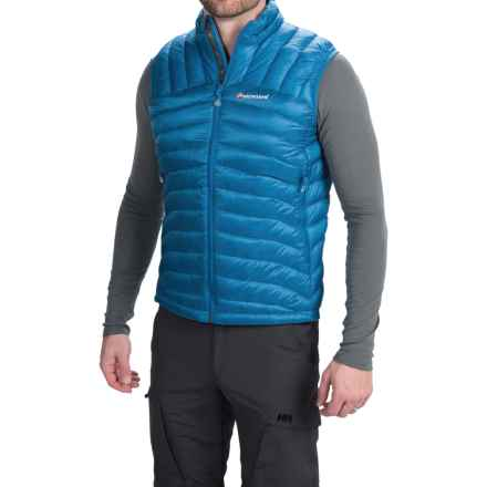 Montane Featherlite Down Vest - 750 Fill Power (For Men) in Electric Blue - Closeouts