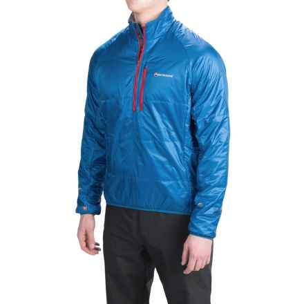Montane Fireball PrimaLoft® Smock Pullover - Insulated, Zip Neck, Long Sleeve (For Men) in Electric Blue - Closeouts