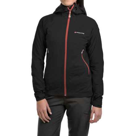 Montane Trailblazer Stretch Hooded Jacket - Waterproof (For Women) in Black - Closeouts