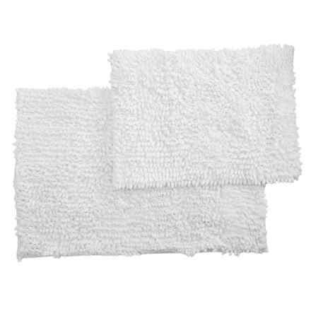 Monte Carlo Chenille Bath Mats - 2-Pack, White in White - Closeouts