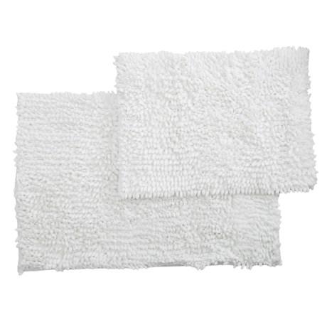 Monte Carlo Chenille Bath Mats - 2-Pack, White in White