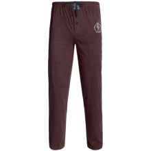 Monte Carlo Polo & Jockey Club Lounge Pants - Cotton Jersey (For Men) in Maroon Heather - 2nds