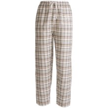 Monte Carlo Polo & Jockey Club Lounge Pants - Lightweight Cotton (For Women) in Natural Plaid - 2nds