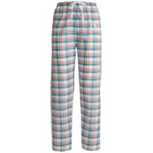 Monte Carlo Polo & Jockey Club Lounge Pants - Lightweight Cotton (For Women) in Pink Plaid - 2nds