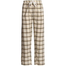 Monte Carlo Polo & Jockey Club Lounge Pants - Lightweight Cotton (For Women) in Yellow Plaid - 2nds