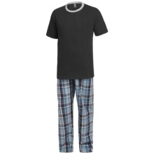 Monte Carlo Polo & Jockey Club Pajamas - Short Sleeve (For Big Men) in Black/Grey - Closeouts