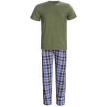 Monte Carlo Polo & Jockey Club Plaid Pajamas - Short Sleeve (For Men) in Green - Closeouts