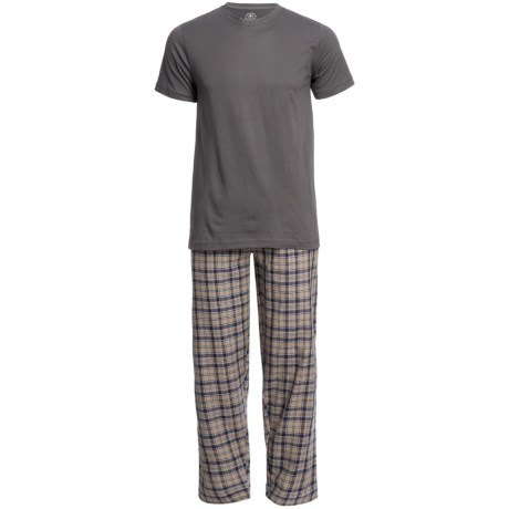 Monte Carlo Polo & Jockey Club Plaid Pajamas - Short Sleeve (For Men) in Black