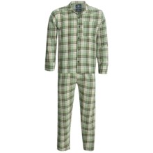 Monte Carlo Polo & Jockey Club Plaid Poplin Pajamas - Long Sleeve (For Men) in Green Plaid - 2nds