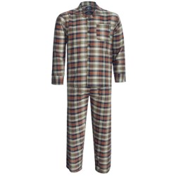 Monte Carlo Polo & Jockey Club Plaid Poplin Pajamas - Long Sleeve (For Men) in Light Blue/White Stripe