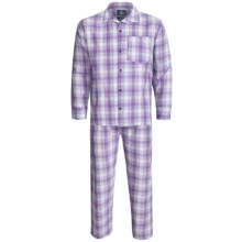 Monte Carlo Polo & Jockey Club Plaid Poplin Pajamas - Long Sleeve (For Men) in Purple Plaid - 2nds