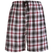 Monte Carlo Polo & Jockey Club Plaid Shorts - Cotton (For Men) in White/Black Plaid - Closeouts