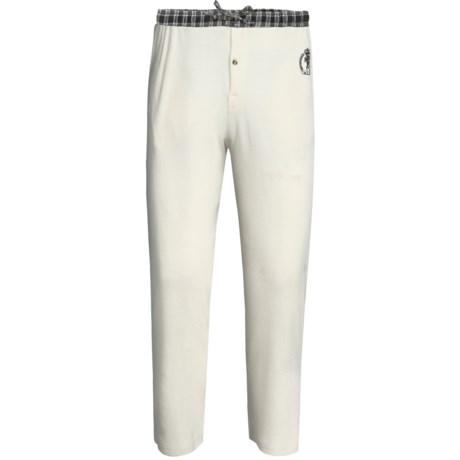 Monte Carlo Polo & Jockey Club Thermal Lounge Pants (For Big Men) in Cream