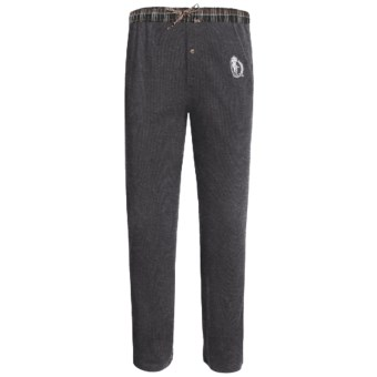 Monte Carlo Polo & Jockey Club Thermal Lounge Pants (For Big Men) in Dark Grey