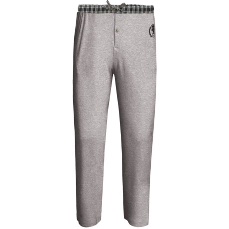 Monte Carlo Polo & Jockey Club Thermal Lounge Pants (For Big Men) in Light Grey