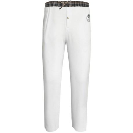 Monte Carlo Polo & Jockey Club Thermal Lounge Pants (For Big Men) in White