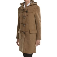 Montgomery by John Partridge Classic Duffle Coat - Wool (For Tall Women) in Camel - Closeouts