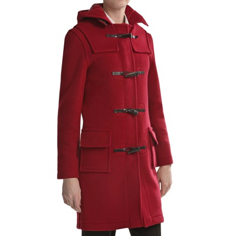 Montgomery by John Partridge Classic Duffle Coat - Wool (For Tall Women) in Red