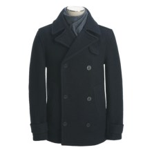 Montgomery by John Partridge Classic Wool Pea Coat (For Men) in Navy - Closeouts