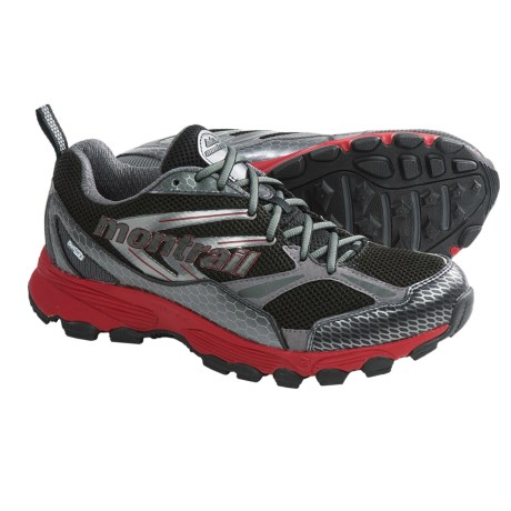 Montrail Badrock OutDry® Trail Running Shoes - Waterproof (For Men) in Black/Red