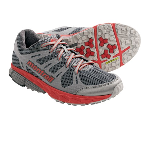 Hybrid Running Shoes - Lightweight (For Women) in Charcoal/Poppy Red