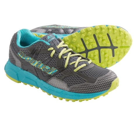 Montrail Bajada Trail Running Shoes (For Women) in Coal/Fresh Kiwi