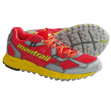 Montrail Bajada Trail Running Shoes (For Women) in Poppy Red/Moray