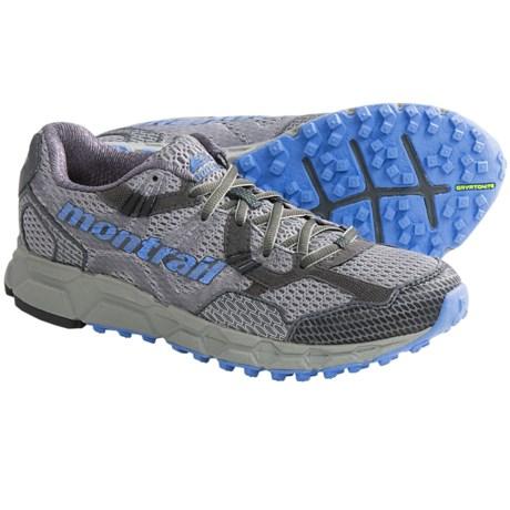 Montrail Bajada Trail Running Shoes (For Women) in Stainless/Bluestreak