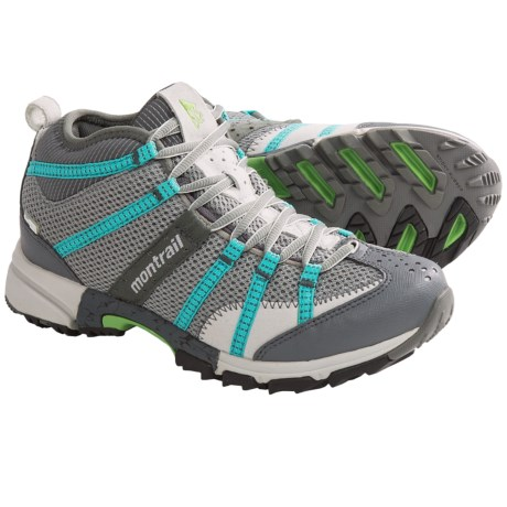 Running Shoes - Waterproof, Mid-Cut (For Women) in Stainless/Reef