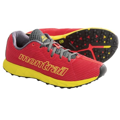 Montrail Rogue Fly Trail Running Shoes - Minimalist (For Women) in Poppy Red/ Moray