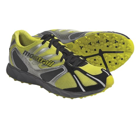 Montrail Rogue Racer Trail Running Shoes (For Men) in Voltage/Metallic Silver