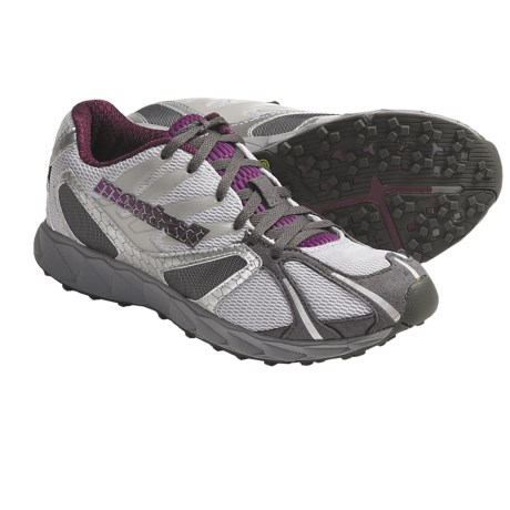 Montrail Rogue Racer Trail Running Shoes (For Women) in Cool Grey/Dewberry