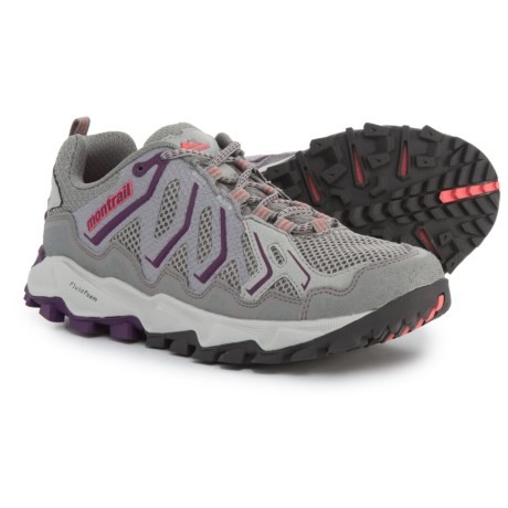 Montrail Trans Alps Trail Running Shoes (For Women) in Light Grey/Glory