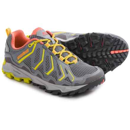 Montrail Trans Alps Trail Running Shoes (For Women) in Light Grey/Wild Melon - Closeouts