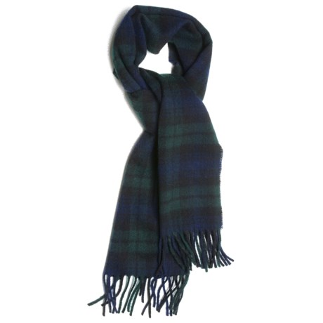 Moon 100% Lambswool Scarf (For Men and Women) in Black Watch