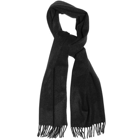 Moon Solid Heather Scarf - Cashmere in Black