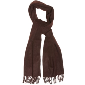 Moon Solid Heather Scarf - Cashmere in Cocoa