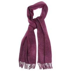 Moon Solid Heather Scarf - Cashmere in Mulberry Heather