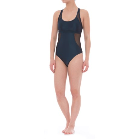 af15f4744f Moontide Mesh Sporty One-Piece Swimsuit - Removable Padded Cups (For Women)  in