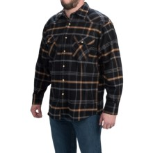 Moose Creek Brawny Flannel Western Shirt - Snap Front, Long Sleeve (For Men) in Black - Closeouts