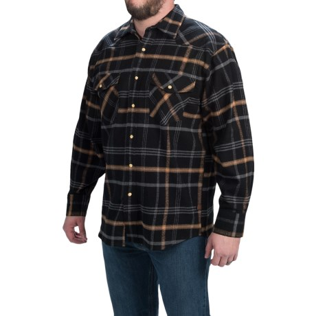 Moose Creek Brawny Flannel Western Shirt Snap Front, Long Sleeve (For Men)