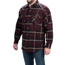 Moose Creek Brawny Flannel Western Shirt - Snap Front, Long Sleeve (For Men) in Burgandy - Closeouts