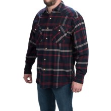Moose Creek Brawny Flannel Western Shirt - Snap Front, Long Sleeve (For Men) in Navy - Closeouts