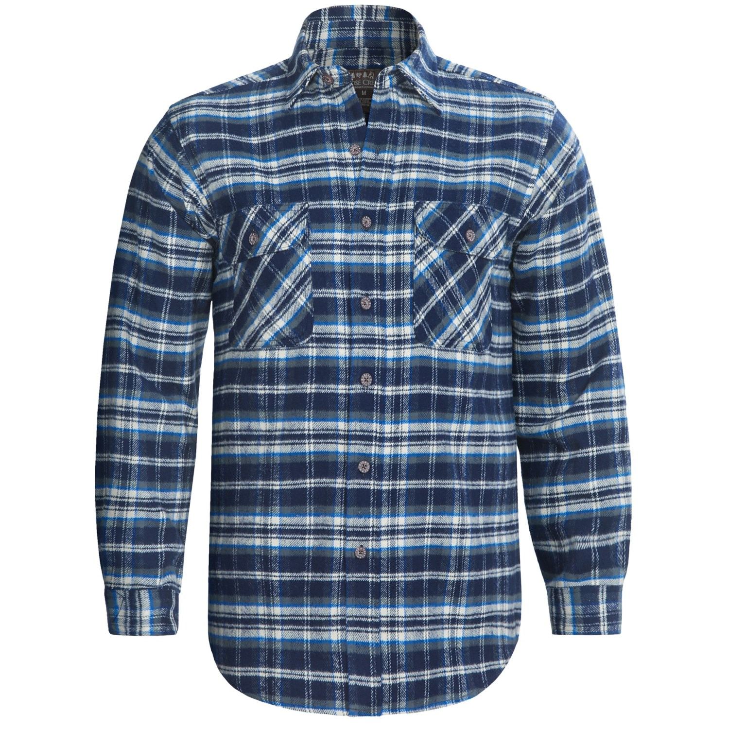 moose creek brawny plaid shirt 9 oz flannel long