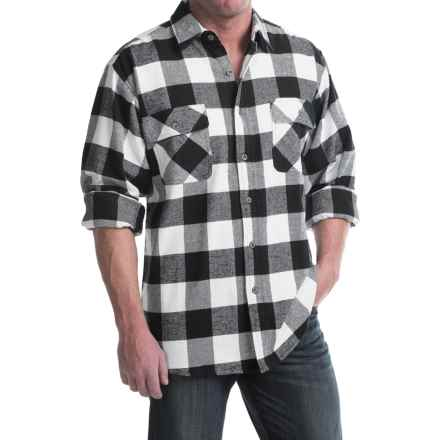 Moose Creek Brawny Plaid Shirt - 9 oz. Flannel, Long Sleeve (For Men) in Coal - Closeouts