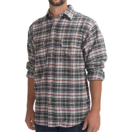 Moose Creek Brawny Plaid Shirt - 9 oz. Flannel, Long Sleeve (For Men) in Grey - Closeouts