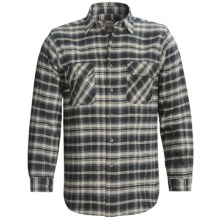 Moose Creek Brawny Plaid Shirt - 9 oz. Flannel, Long Sleeve (For Men) in Limo Black - Closeouts