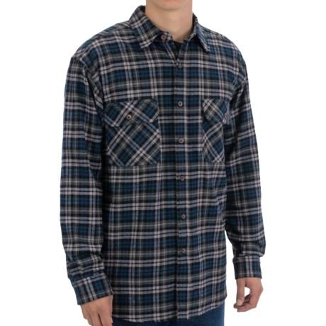 Moose Creek Brawny Plaid Shirt - 9 oz. Flannel, Long Sleeve (For Men) in Midnight