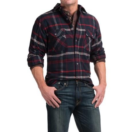 Moose Creek Brawny Plaid Shirt - 9 oz. Flannel, Long Sleeve (For Men) in Navy