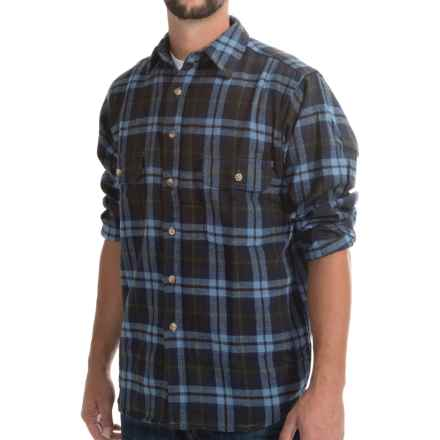 Moose Creek Brawny Plaid Shirt - 9 oz. Flannel, Long Sleeve (For Men) in Ocean - Closeouts